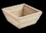 Corbeille Tiges bois carré
