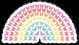 Butterfly Rainbow Sticker