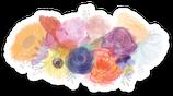 Watercolour Florals Sticker