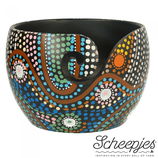 Yarn Bowl aus Mangoholz - Aboriginals
