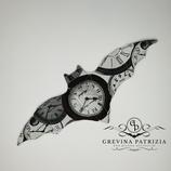 Körnerkissen Batty weiß braun schwarz Uhren Füllung: Rapssamen
