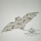 Körnerkissen Batty weiß/grau Engel Füllung: Dinkel