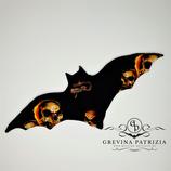 Körnerkissen Batty schwarz Skull Flammen Füllung: Dinkel oder Rapssamen