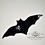 Körnerkissen Batty schwarz Skull Bone groß Füllung: Dinkel oder Rapssamen