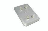 Supporto per manipolo in alluminio