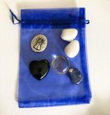 Steine-Set mit Engel-Taler