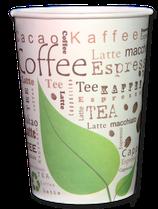 "Kartonbecher ""Cacao Coffee Tea"" 180ml, recycelbar (1.575 Stk)"