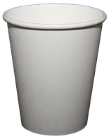 Kartonbecher 200 ml, weiß, BIO (100 Stk)