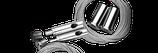 Stahlseilaufhängung mit Höhen- /Neigungsverstellung für MATRIXX II (4 Lampen) oder FUTURA Giesemann