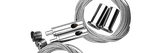 Stahlseilaufhängung Y 380 mit Höhen- /Neigungsverstellung für GEMINI / STELLAR Giesemann