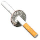 Cigarette Thru 1/2 $ - 1964