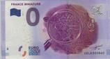Billet touristique 0€ France miniature loupe et carte de France 2017