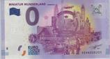 Billet touristique 0€ Euro souvenir Miniatur wunderland Hamburg 15 ans 2016