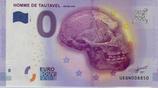 Billet touristique 0€ Homme de Tautavel 450 000 ans 2016