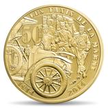 50 euros Grande guerre taxis de la Marne en or 1/4 oz