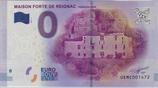 Billet touristique 0€ Maison forte de Reignac Périgord noir 2017