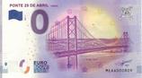 Billet touristique 0€ Ponte 25 de abril Lisboa 2018