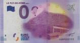 Billet touristique 0€ Le Puy de Dome 1485 m 2016