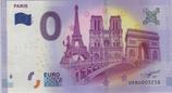 Billet touristique 0€ Paris tour eiffel ND arc triomphe derrière pont 2017