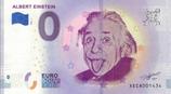 Billet touristique 0€ Albert Einstein 2018
