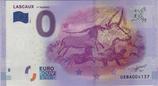 Billet touristique 0€ Lascaux 1er taureau 2016