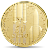 50 euros Europa 1/4 once or Coopération spatiale 2014