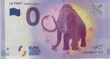 Billet touristique 0€ Le thot Mammouth laineux 2017