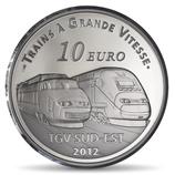 10 euros argent Lyon Saint Exupéry 2012
