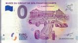 Billet touristique 0€ Musée du circuit de spa-Francorchamps 2018