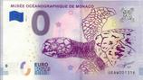 Billet touristique 0€ Musée océanographique de Monaco tortue 2018