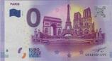 Billet touristique 0€ Paris arc triomphe tour eiffel ND derrière pont 2017