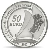 50 euros argent 5 onces L'Hermione 2012
