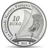 10 euros argent L'Hermione 2012