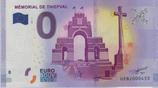 Billet touristique 0€ Mémorial de Thiepval 2017