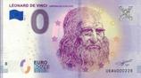 Billet touristique 0€ Léonard de Vinci Chateau du Clos Lucé 2018
