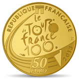 50 euros Tour de France 2013 en or 1/4 oz