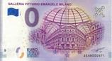 Billet touristique 0€ Galleria Vittorio Emanuele Milano 2018