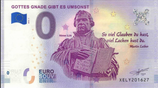 Billet touristique 0€ Gottes gnade gibt es umsonst 2018