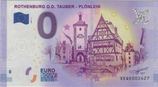 Billet touristique 0€ Rothenburg O D Tauber Plonlein 2017