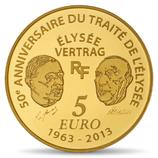 5 euros Europa 2013 en or 0,5 gr.