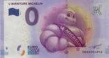 Billet touristique 0€ L'aventure Michelin bibendum pose trois quart 2016