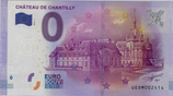 Billet touristique 0€ Chateau de Chantilly 2016