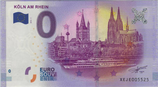 Billet touristique 0€ Euro souvenir Koln Am Rhein 2016