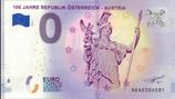Billet touristique 0€ 100 jahre Republik Osterreich-Austria 2018