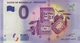 Billet touristique 0€ Savon de Marseille Provence 2017