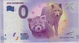 Billet touristique 0€ Zoo Duisburg loup 2017