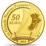 50 euros L'Hermione 2012 en or 1/4 oz