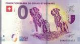Billet touristique 0€ Fondation Barry du grand Saint Bernard 2018