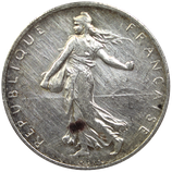 2 francs argent Semeuse 1898-1920