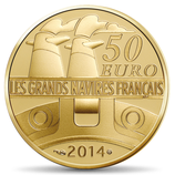 50 euros Le Normandie 2014 en or 1/4 oz